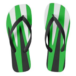 Wave Design Green Flip Flops