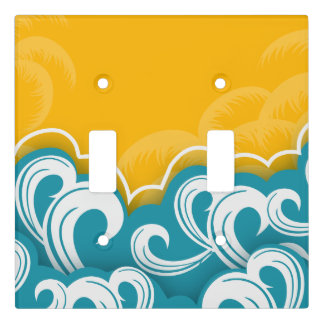 Wave design pattern light switch cover