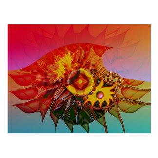 Wave flower postcard