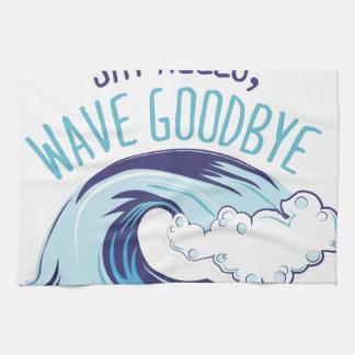 Wave Goodbye Kitchen Towel