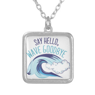 Wave Goodbye Silver Plated Necklace