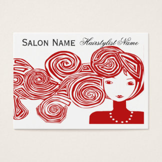 Wave Hair Fantasy Business Card