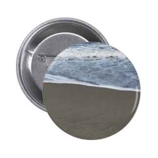Wave of the sea on the sand beach 2 inch round button