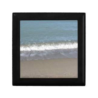 Wave of the sea on the sand beach jewelry box