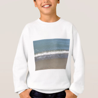 Wave of the sea on the sand beach sweatshirt