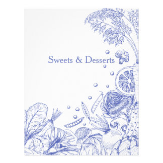 Wave of Veggies Blue - Recipe Category Letterhead