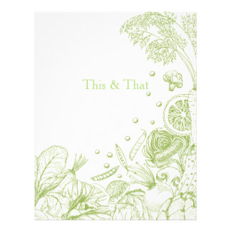 Wave of Veggies Green - Recipe Category Letterhead