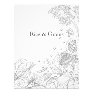 Wave of Veggies Grey - Recipe Category Letterhead