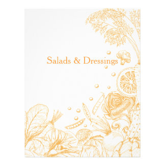 Wave of Veggies Orange - Recipe Category Letterhead