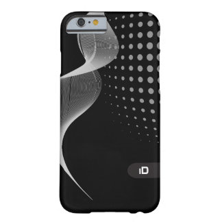 WAVE | pattern any background color  with initials Barely There iPhone 6 Case