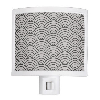Wave Pattern Charcoal Gray and Taupe Nite Lights