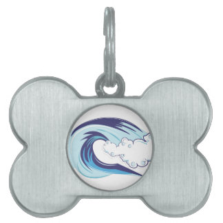 Wave Pet Name Tags