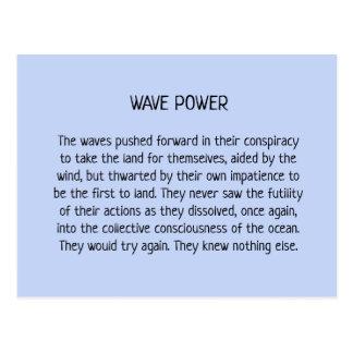 Wave Power Postcard