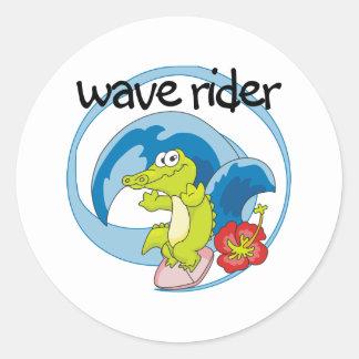 Wave Rider Classic Round Sticker