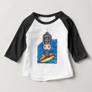 Wave riding king English story Shonan coast Baby T-Shirt