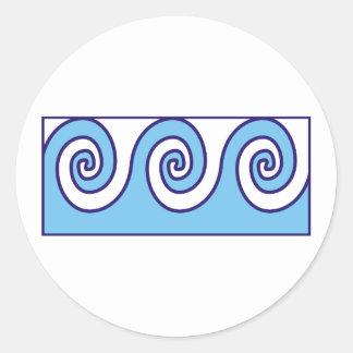 wave samples round sticker