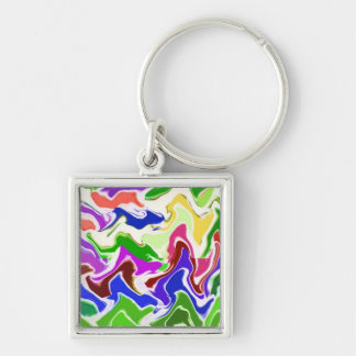Wave Sensual Artistic TEMPLATE easy add TEXT PHOTO Key Chains