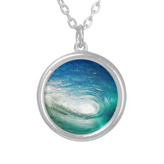 Wave Silver Plated Necklace