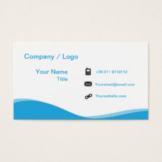 wave simple business card (pink)