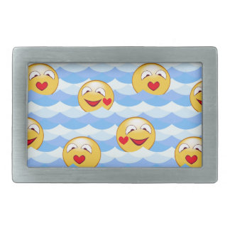 Wave smiley belt buckles