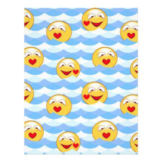 Wave smiley letterhead