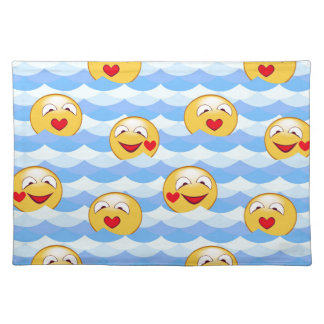 Wave smiley placemat