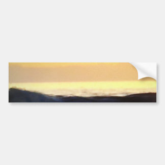 Wave & Sunset Horizon Bumper Sticker