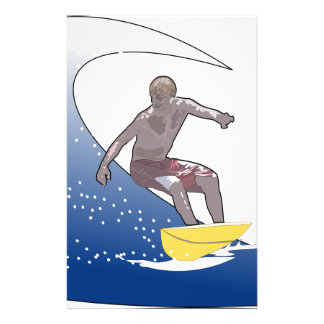Wave Surfing Customized Stationery