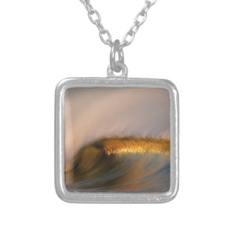 wave Suset  california Silver Plated Necklace