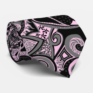 Wave Trip Floral Paisley Single-side Printed Tie