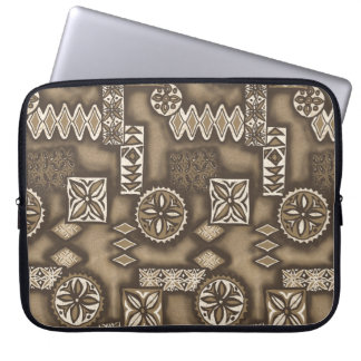 Wave Warrior Hawaiian Tapa Neoprene Wetsuit Laptop Sleeve