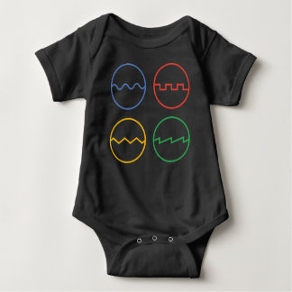Waveforms Baby Bodysuit