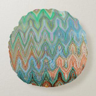 Waverly Peak Brushed Polyester Round Throw Pillow