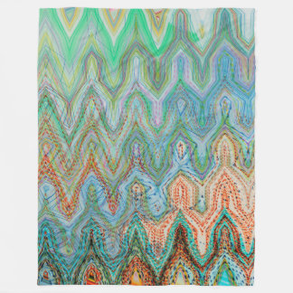 Waverly Peak Fleece Blanket by Artist C.L. Brown