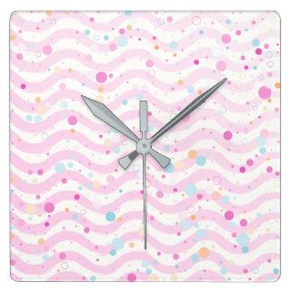 Waves2 Square Wall Clock