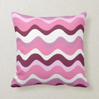 Waves 2 (wink) throw pillow