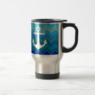 Waves & Anchor Travel Mug
