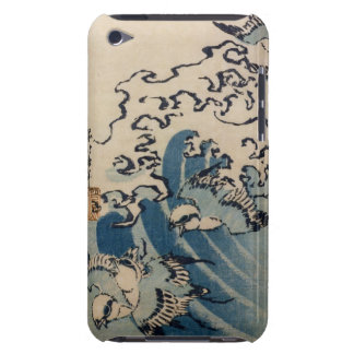 Waves and Birds, c.1825 (colour woodblock print) iPod Case-Mate Cases
