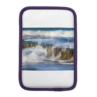 Waves and groynes on the Baltic Sea coast iPad Mini Sleeve