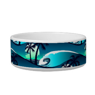 Waves and palm trees bowl