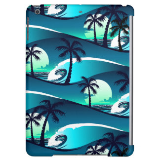 Waves and palm trees iPad air cover