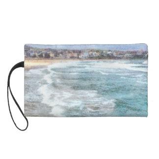 Waves at Bondi beach Wristlet Clutch