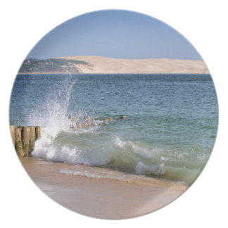 Waves at Cap-Ferret in France Plate