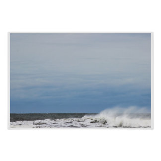 Waves at High Tide Poster