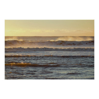 Waves at Sunrise Photo Poster