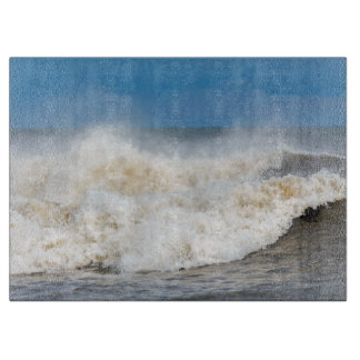 waves beach seaside photograph chopping board