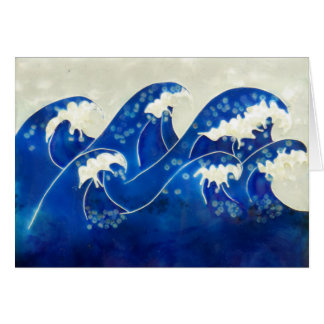 Waves Blank Greeting Card
