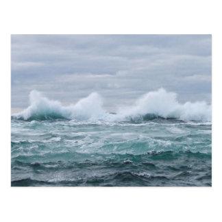 Waves breaking off the Isle of Staffa Postcard