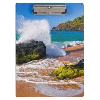Waves crash on the beach, Hawaii Clipboard