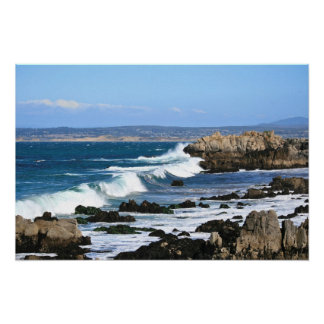 Waves Crashing, Pacific Coast Photo (1 of 2) Poster
